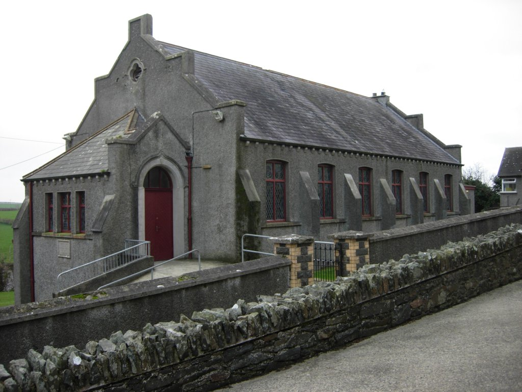 image of Church in Newtownards prior to addition of new extension.