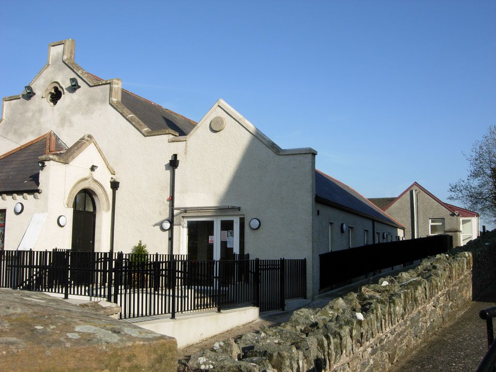 image of Church in Newtownards after new extension added.